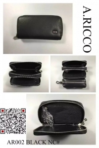 men's wallet for keys ALFA RICCO, black