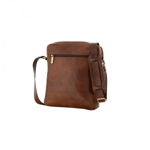 MEN'S BAG, brown leather,