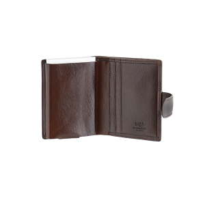 WALLET, brown leather,