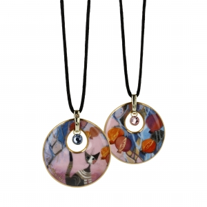 "Necklace Rosina Wachtmeister - ""Melograni in fiesta"""