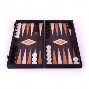 Backgammon board - Wenge with Walnut & Oak points.