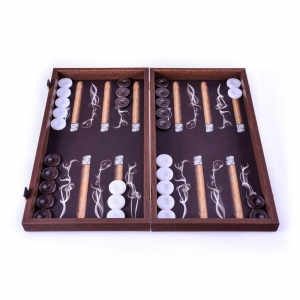 Handcrafted backgammon board Robusto Cigar 48X25SM