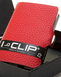 I-CLIP in cowhide leather 13405red