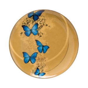 Blue Butterflies - Breakfast Plate