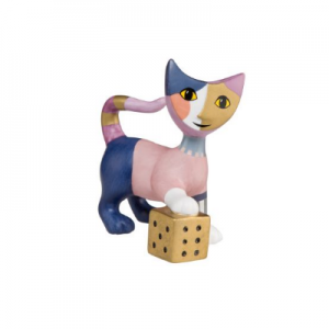Gioco di dadi, cat, porcelain, height: 8 cm